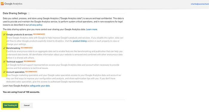 Adding Your Site to Google Analytics Step 6