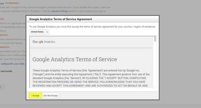 Adding Your Site to Google Analytics Step 7